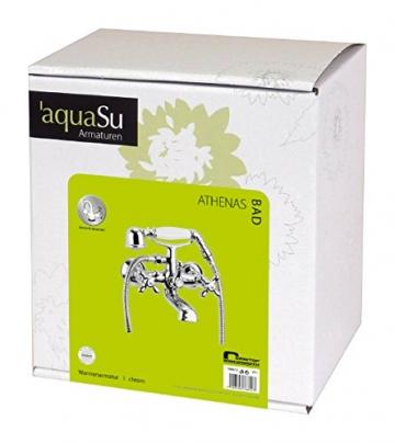 Zweigriffmischer Athenas für Wanne inklusive Brausegarnitur   Chrom   Wasserhahn   Badewannenarmatur   Wannenbatterie - 5