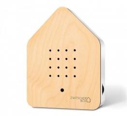 Zwitscherbox Wood Ahorn Weiß Vogelgezwitscher mit Bewegungsmelder Vogelstimmen
